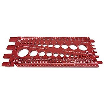 Screw Bolt Nut Thread Measure Gauge Size Checker  Inch Standard & Metric