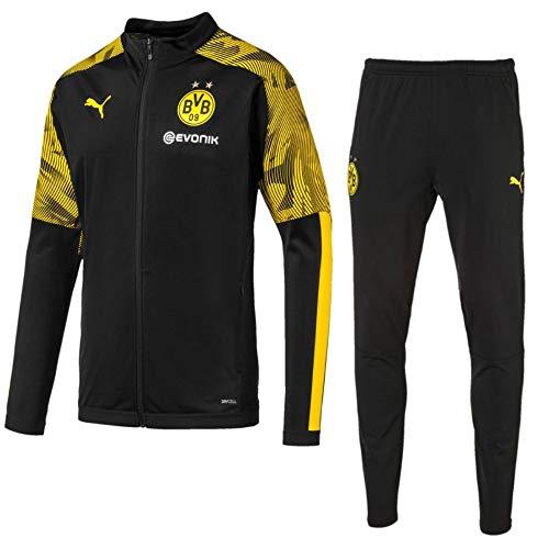 PUMA Fußball BVB Borussia Dortmund Trainingsanzug 2019 20 Polyesteranzug Kinder Gr 116