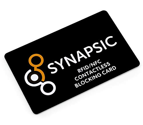 RFID Blocker Karte NFC Schutzkarte I Störsender Technologie 2019 I Karte schützt 100% I Nur 1,00mm dünn I Schutz Kreditkarte EC Karte