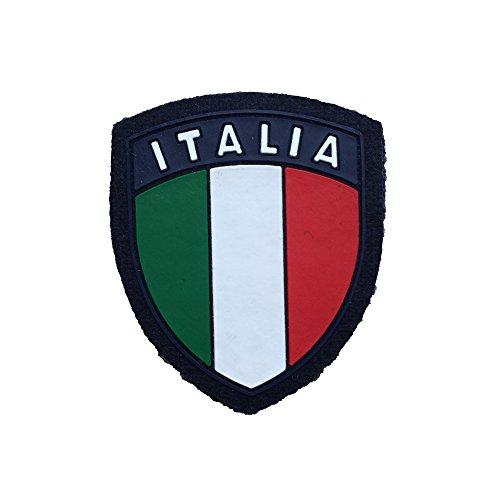 ALGI Scudetto Italia Blu Navy con Velcro in Gomma