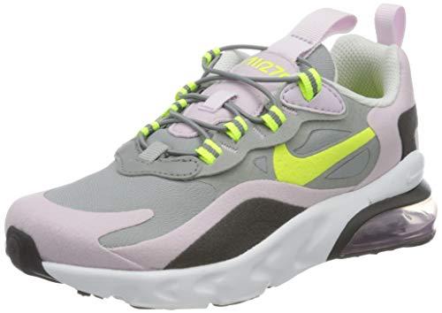 Nike Air Max 270 RT (PS), Chaussure de Course, Particle Grey/Lemon Venom/Iced Lilac/Off Noir, 27.5 EU