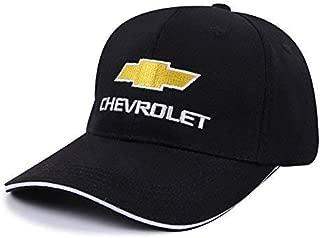 OSIRCAT Car Logo Adjustable Baseball Cap,Unisex Hat Travel Cap Car Racing Motor Hat for Chevrolet - Black