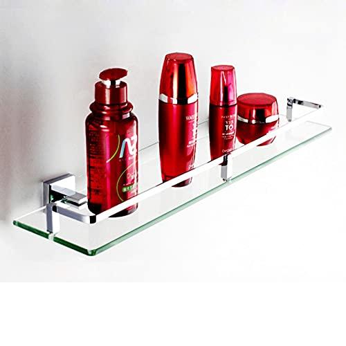 FDGSD Baño de Inodoro Mesa de Inodoro Perforada de Vidrio Templado con Estante Frontal de Espejo de Lavado montado en la Pared con Orificio Antiguo