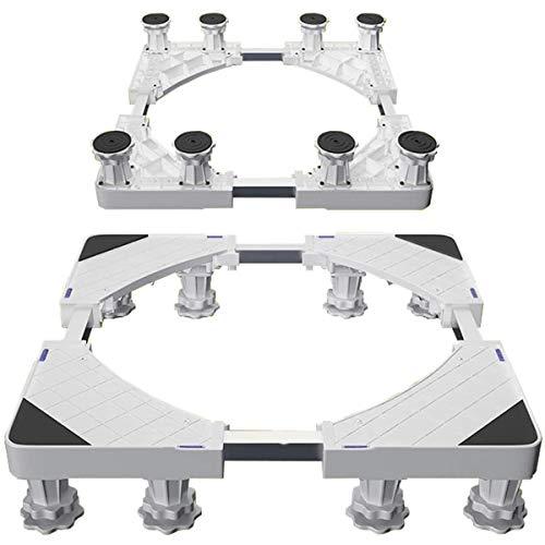 ZHBD Soporte De Base Multifuncional con Ruedas Movible, Base Telescópica con 8 Pies Fuertes, Soporte Movible Fácilmente para Lavadora Dryer Gabinete Refrigerador