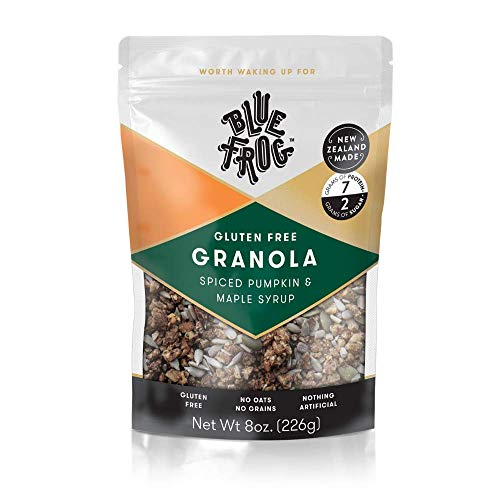 Blue Frog Breakfast Gourmet Granola  Delicious Spiced Pumpkin amp Pure Maple Syrup  Healthy Gluten amp Grain Free  Natural Whole Food Organic Ingredients  Low Sugar Vegan amp Paleo Cereal  7 Serves