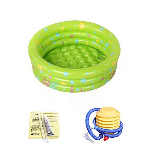 Opvouwbare Buiten Zwembad Buiten Te Spelen Voor De Kinderen Pool Ronde Opblaasbare Kinderbad Bad Met Pomp Summer Open Lucht,Green,80cm