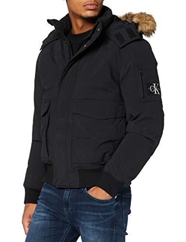 Calvin Klein Jeans Herren Fur Trimmed Down Jacket Jacke, Ck Black, XL