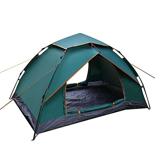 ZCY Outdoor Camping Tent, 3-4 Personen Automatische Open Tent Strand Anti-Uv Dubbele Laag Tent Ultralight Slaapkamer Account Canopy