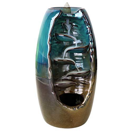 Keramik Wasserfall Weihrauch Brenner Räuchergefäß Chinesische Brenner Home Decor Aromatherapie Ornament + 10 Kegel