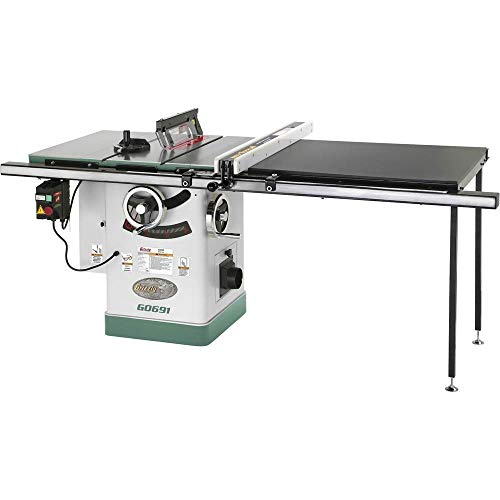 Grizzly Industrial G0691-10' 3HP 220V Cabinet Table Saw with Long Rails & Riving...