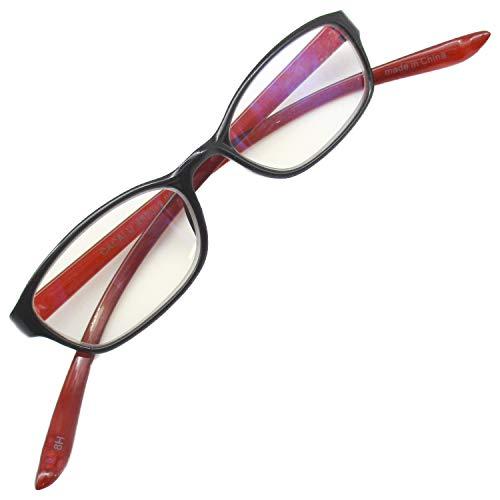 首かけ 老眼鏡 おしゃれ シニアグラス 軽量 リーディンググラス ブルーライトカット (レッド +2.00)