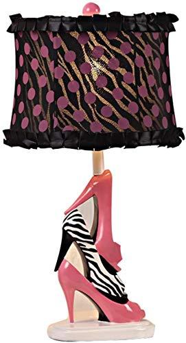 HZY Lesen Light- American Girl Moderne Princess Room Kreative Female High Heel Cloth Tischlampe am Bett Schlafzimmer Wohnzimmer Tischlampe -Schreibtisch und Nachtbeleuchtung
