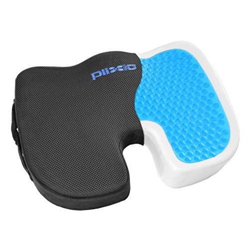Plixio Gel Seat Cushion Memory Foam Chair Pillow with Cooling Gel for...