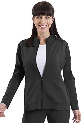 healing hands Purple Label Women's Dakota 5038 Zip Up Scrub Jacket Scrubs- Black- M