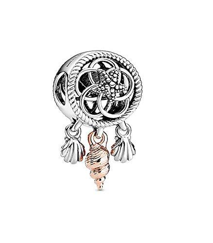 XIAODAN Real 925 Sterling Silver Beads Charm Dream Catcher Charms Fit Original Pan Bracelets Women Diy Jewelry