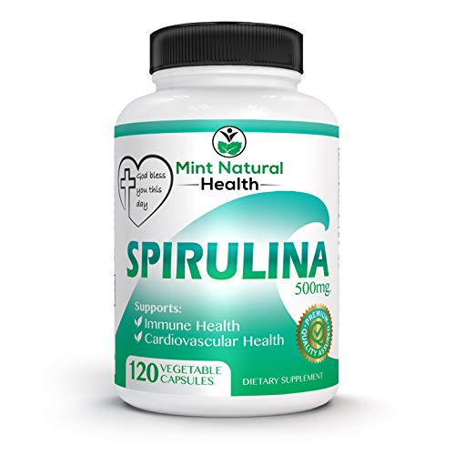 Spirulina Superfood, High in Protein, Iron and B Vitamins - 120 x...