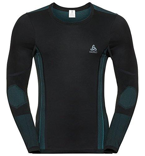 Odlo 411472 sous-vêtement de Cyclisme Homme Black - Lake Blue FR : L (Taille Fabricant : L)