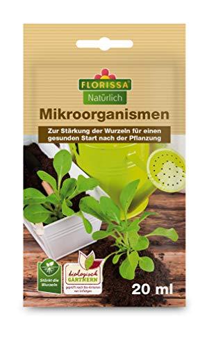 Florissa Natürlich Bio Mikroorganismen für Rosen und Zierpflanzen zur Erhöhung der Widerstandskraft | für bessere Nährstoffaufnahme | für Lange Blüte | 1L für 250L Wasser