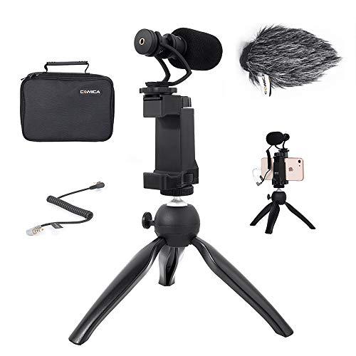 Smartphone Video Kit Rig Comica CVM-VM10-K2 Smartphone Schrotflinte Mikrofon mit...