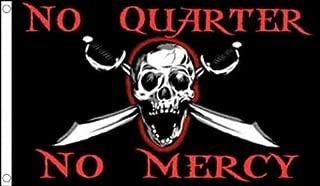AZ FLAG Pirate No Quarter No Mercy Flag 3' x 5' - Pirates Flags 90 x 150 cm - Banner 3x5 ft