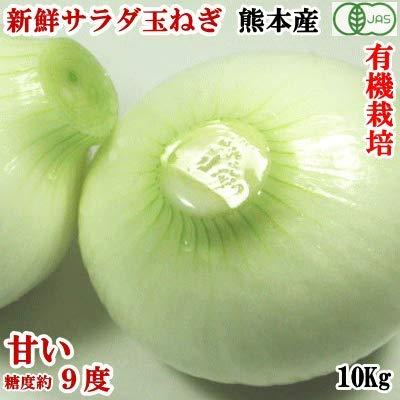 有機栽培!無農薬「サラダたまねぎ・サラダ玉ねぎ」約10Kg/約40無農薬・無化学肥料で自家製完熟有機肥料を活用して栽培!有機JAS認定