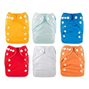 ALVABABY Newborn Cloth Diapers Pocket for Less Than 12pounds Cloth Diaper Nappy 6pcs + 12 Inserts 6SVB03