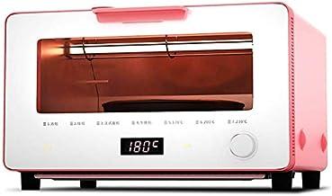 GJJSZ Horno a Vapor,Mini Horno a Vapor con Pantalla Táctil Inteligente,Tubo de Calentamiento Infrarrojo,Potencia de Cocina 1300w,Rosa,10l