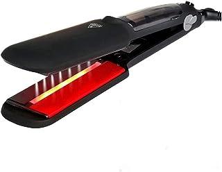 Hair Straightener Steam Curling Iron Ceramic Steam Infrared Heating Salon 2 Inch Large Size Hair Straightener-Black Hair S...