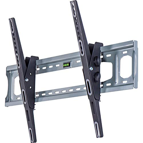AmazonBasics - Soporte de pared ajustable e inclinable con brazo cóncavo, para televisión, de 127 a 215,9 cm (50-85