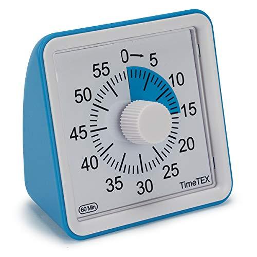 TimeTEX Zeitdauer-Uhr lautlos compact (blau)