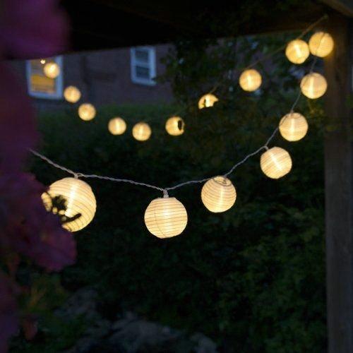 Uping Guirnalda Luminosa LED 30 Farolillos, Funciona Con Pilas 8 Modos Función Temporizador, Decoración Exterior yInterior para Fiesta Boda Ceremonia Jardín Casa (Blanco Cálido)