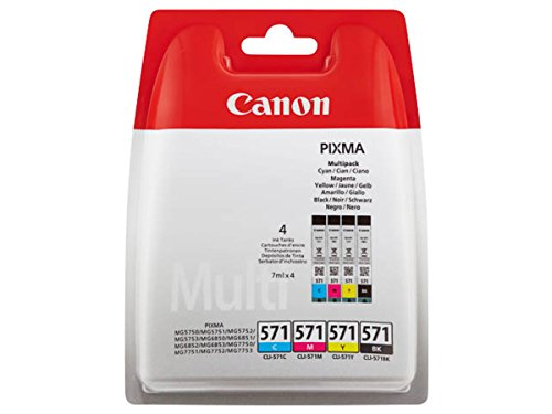 Canon original - Canon Pixma MG 7750 Series (571 / 0386C005) - Tintenpatrone Multipack (schwarz, Cyan, Magenta, gelb) - 7ml