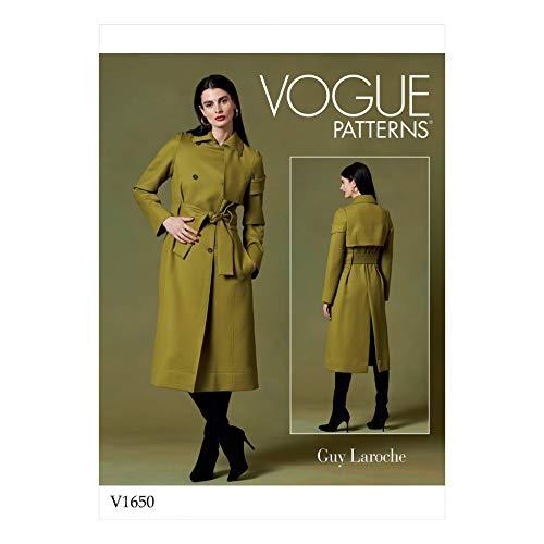 Vogue Schnittmuster 1650 Mäntel Y (XSM-SML-MED)