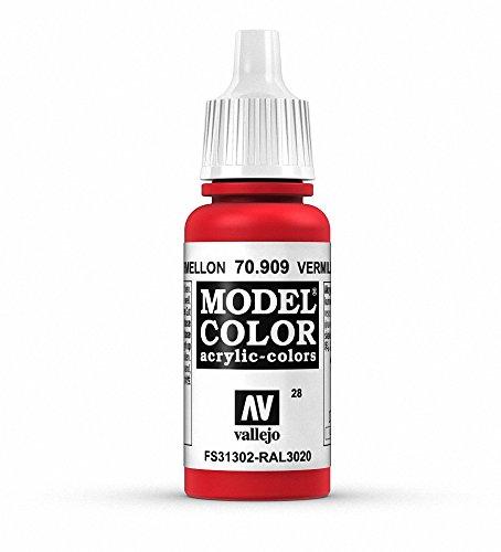 Vallejo Model Color Pintura Acrílica, Rojo (Vermilion), 17 ml