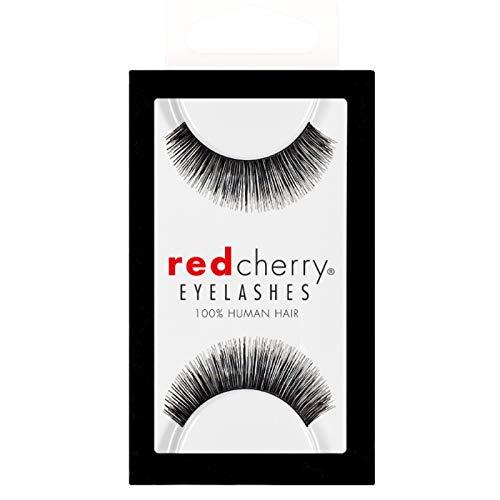 Rouge cerise 100% cheveux naturels Faux cils No 82 * * NOIR * *