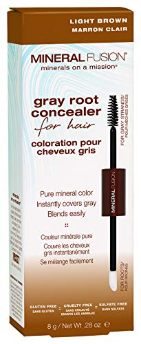 Mineral Fusion Gray Root Concealer for Hair Light Brown, 0.28 Ounce (Packaging May Vary)