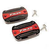 GZWO / Compatible con Yamaha/T-Max 500 TMAX 500 TMax 530 SX DX 560 TECH MAX TMAX Cubierta de depósito de combustible de freno de motocicleta (color: rojo)