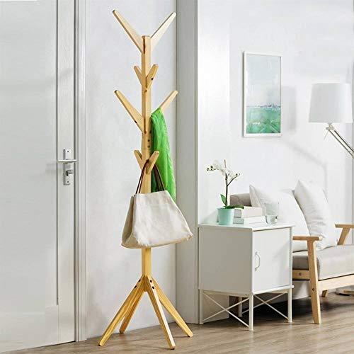 8 Haken Massief Houten Hook Floor Kapstok Wonen Meubels kleding opslag Houten Hanger Drogen Hanger for Bedroom