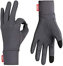 aegend Lightweight Running Gloves Warm Gloves Mittens Liners Women Men Touch Screen Gloves Cycling Bike Sports Compression Gloves for Winter Early Spring Or Fall, 4 Colors, 3 Sizes