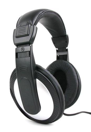 DURAGADGET Auriculares De Diadema para Piano Digital/Teclado Yamaha P-35B / Yamaha P-45B / Yamaha PSR-F51 / Casio CDP-130 / Casio CTK-6200 - Negro Y Blanco