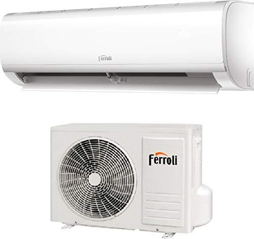 Climatizzatore 9000 Btu, Inverter, Pompa di Calore, Wi-Fi, Gas R32, Unità Interna + Unità Esterna, Ferroli Diamant S 9