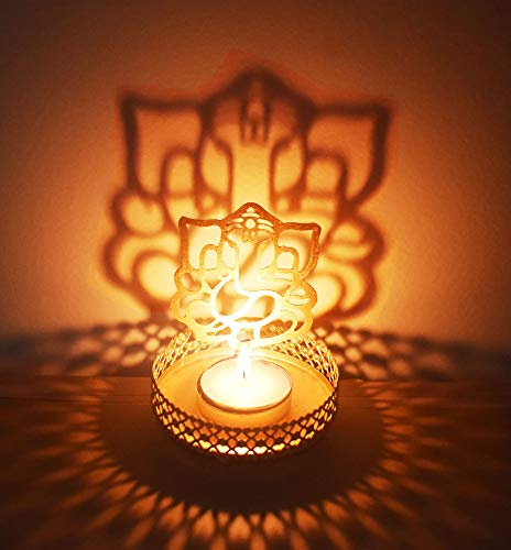 Lord Ganesha (Ridhi Shidhi) Diwali Shadow Diya. Deepawali Traditional Decorative Diya in Lord Ganesha Shape for Home/Office.Religious Tea Light Candle Holder .Diwali Decoration .. Indian Gift Items..