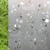 XKLHXFY Vinilos para Ventanas 3D Hojas de Cristal Blanco Efecto Semi-Privacidad Vinilo Ventana con Electricida Estática de Calor Control y Anti UV para Baño Oficina, Hogar 44.5 x 300 cm
