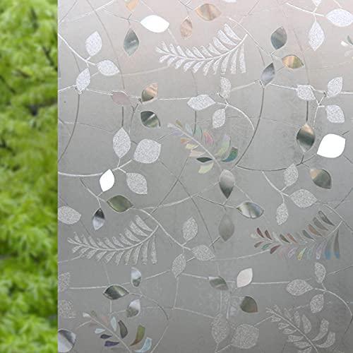 Vinilo Ventana Electroestatico Rejas de Ventana Blancas Vinilos Cristales para Privacidad Película Adhesiva Deslustrado ,Facíl Desmontar y Reutilizar de Baño Cocina Oficina Anti UV 60 x 300 cm