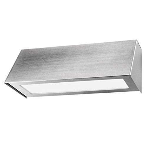 Heibi Wandleuchte 68136-072 Edelstahl geschliffen Silber Stella