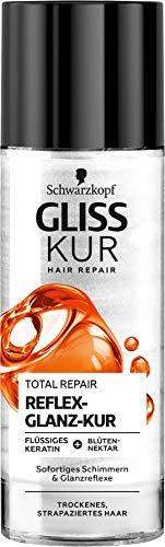 Gliss Kur Schwarzkopf Total Repair Reflex-Glanz-Kur, Haarkur ohne ausspülen, 1er Pack (1 x 150 ml)