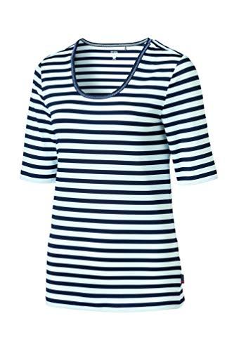 SCHNEIDER Sportswear T-Shirt pour Femme. M Blanc/Bleu foncé