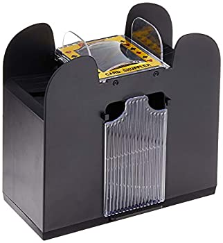 Automatic Card Shuffler – Battery Operated 6 Deck Playing Card Dispenser – Game Night Casino Equipment and Accessories by Trademark Poker