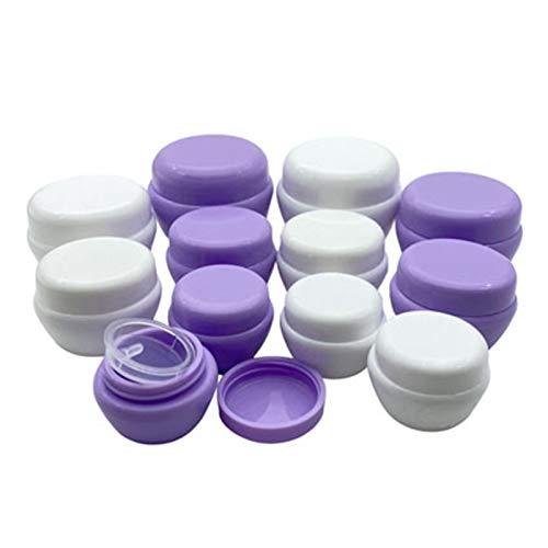 MHXY Geteilte Flasche 5 stücke leer Kunststoff Reisen kosmetische gläser 5g / 10g / 20g / 30g Make-up Container pilzflaschen fläschchen Gesichtscreme Mustertöpfe Gelkästen Mini-Flaschen