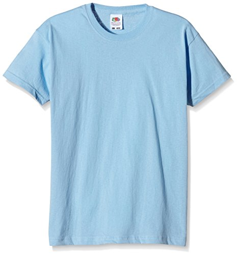 Fruit of the Loom Jungen T-Shirt, Blau (Sky Blue), 2 años
